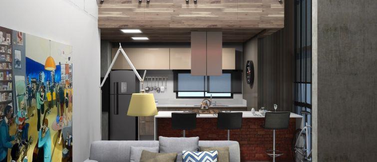 Lofts remetem residência para ambiente industrial