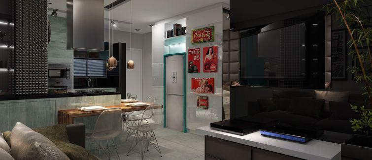 Studio do Vista 240 tem perfil jovial misturando tendências