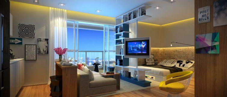 Apartamentos no formato estúdio permitem alta personalização